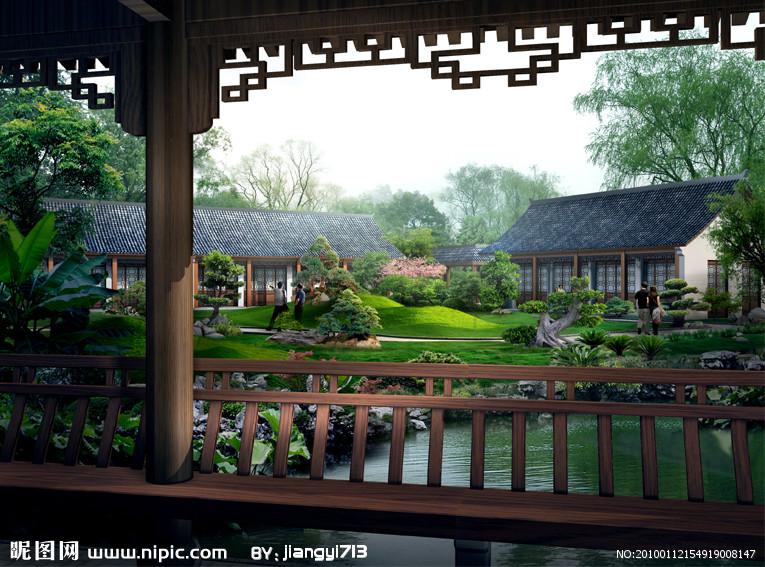 古典庭院风景图片