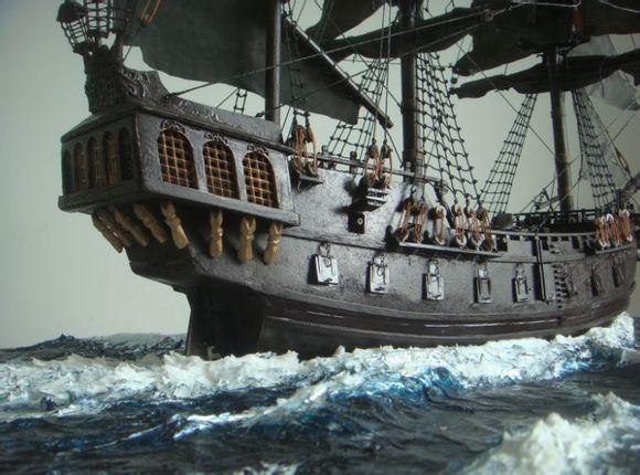 【桃社|手工】转|  古帆船制作——黑珍珠号>>