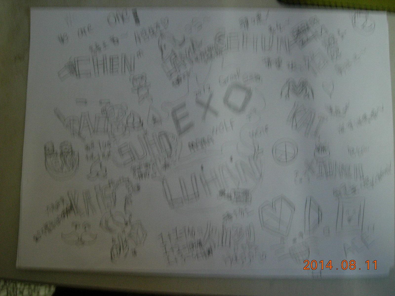 【璇纸】exo的手绘画