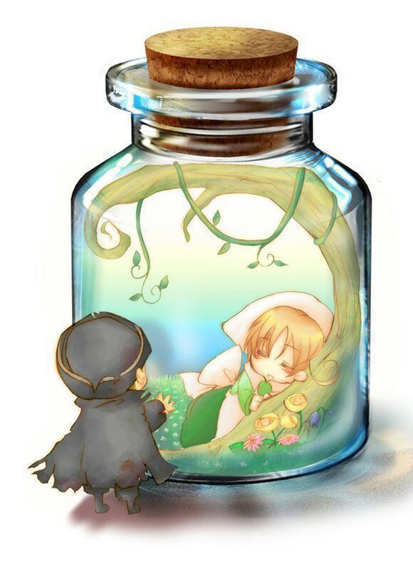 瓶子里的小人,萌萌哒