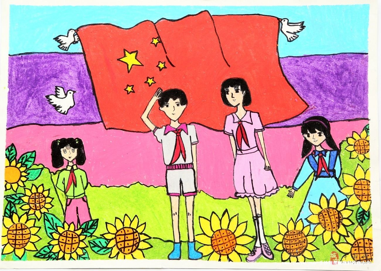 中国梦小学生画画