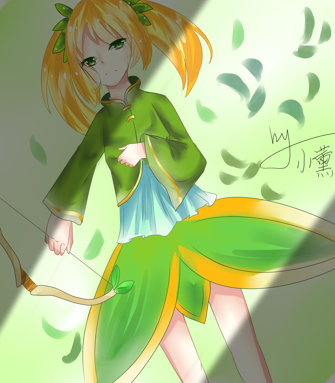 龙斗士手绘女弓箭手