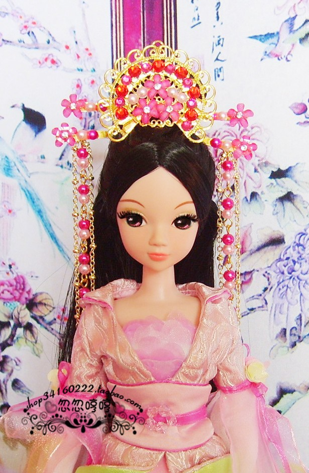 最简单芭比娃娃古装古装芭比娃娃怎么弄高清图片