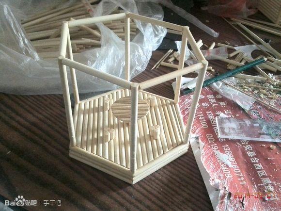 筷子制作凉亭