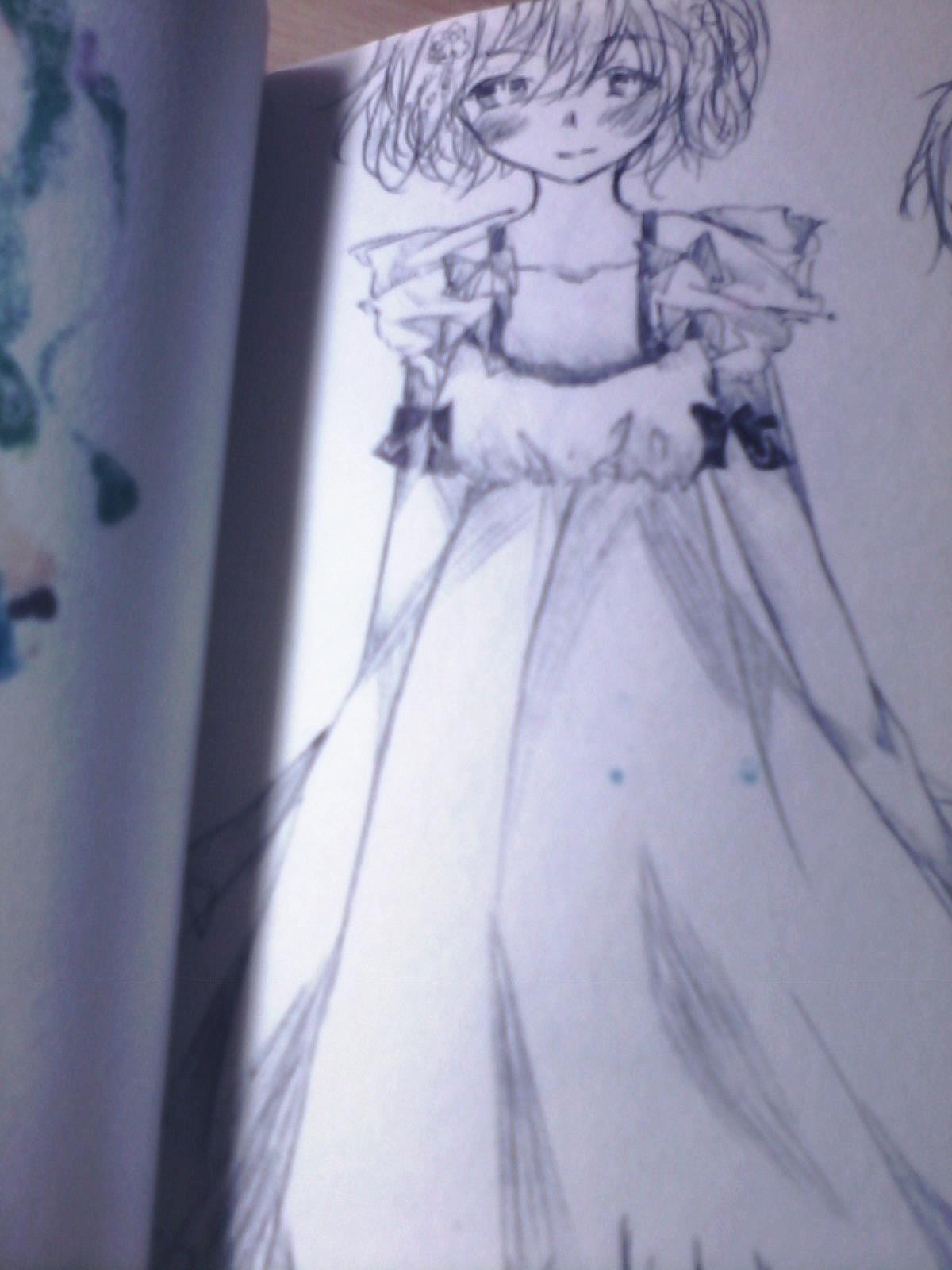 画画婚纱的步骤