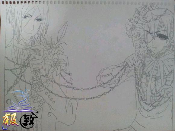 手链铅笔画步骤