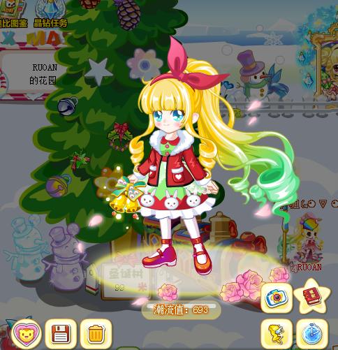 奥比岛夜美圣诞公主装混搭若安教你