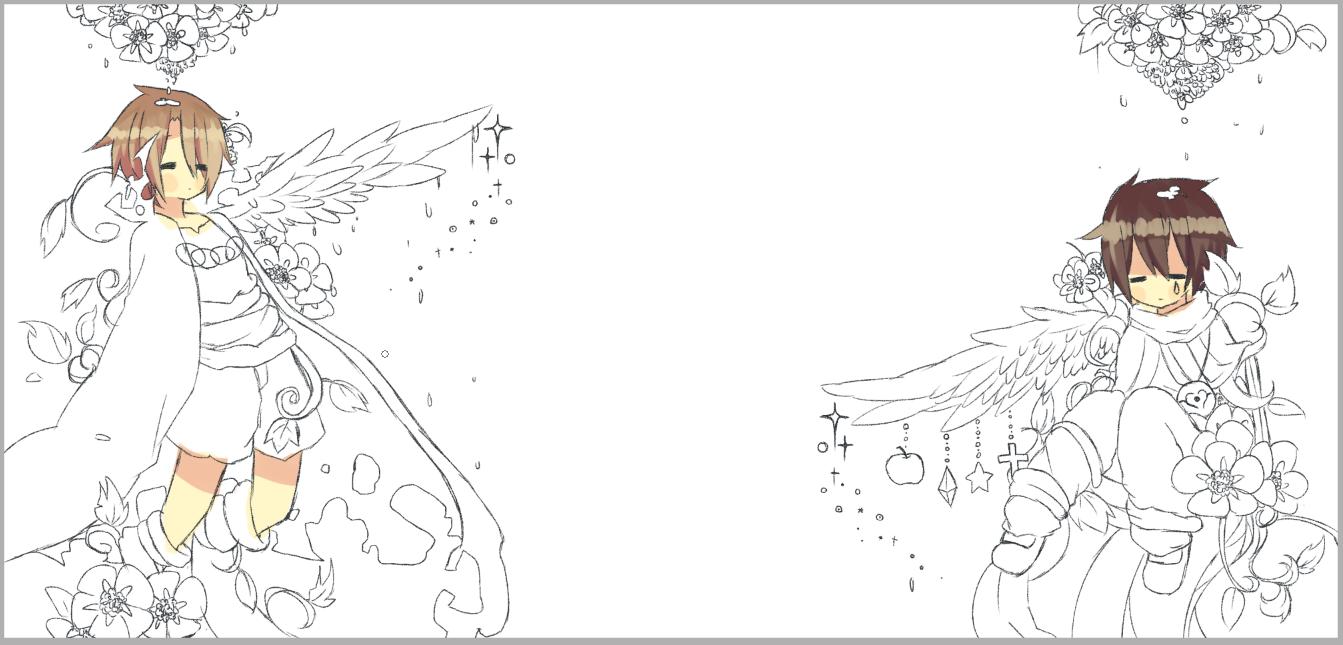 【直播板绘】想换个qq空间背景于是自己动手画一个√