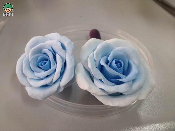 【心海】粘土玫瑰花手工制作方法