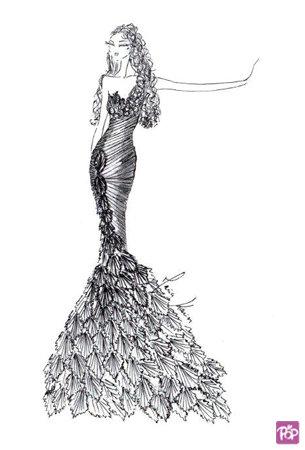 【蕾娜】设计师的手绘婚纱稿,看看哪一个是你的最爱