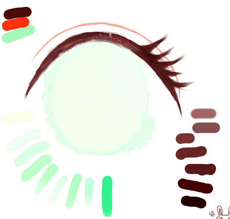 【西西】(原创)一些简单的眼睛画法