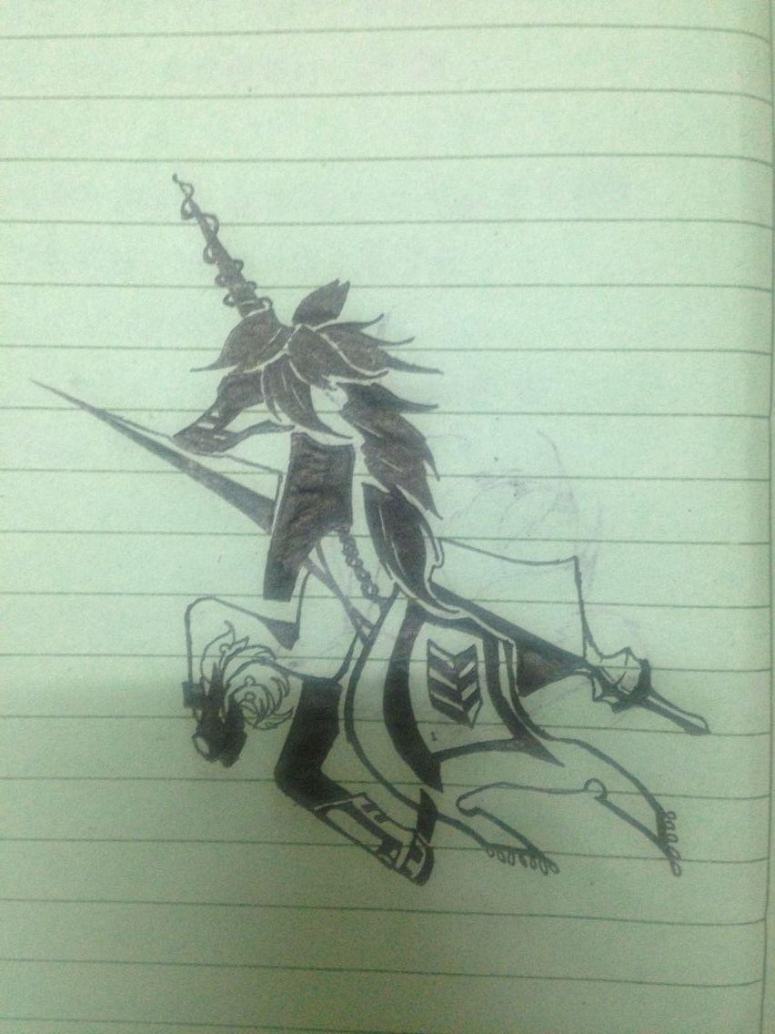 真实的骑士画画图片