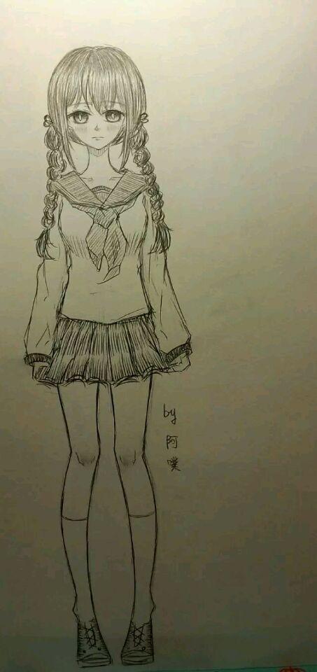 古风漫画人物铅笔画_男漫画人物