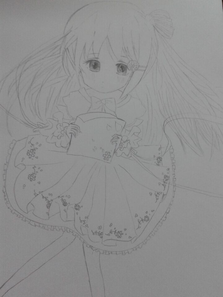 月亮女孩_百田涂鸦板_百田网