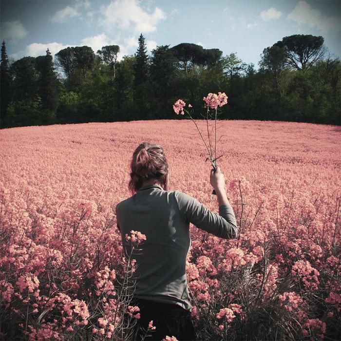 幫忙找個女的用微信頭像,風景類型的或者花卉什么的都