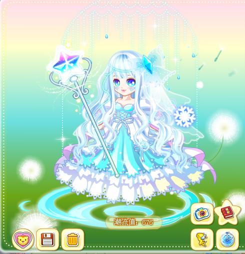 奥比岛冰晶雪国公主装小泽教你搭