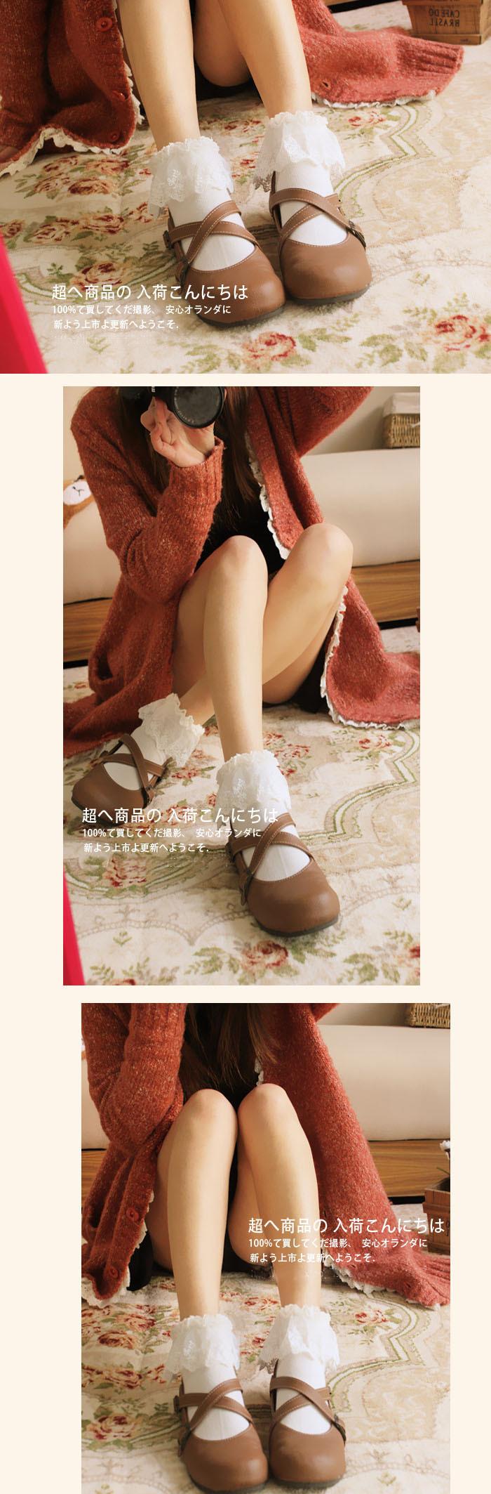 日系花边袜全面蕾丝森系复古花边短袜女可爱堆堆袜公