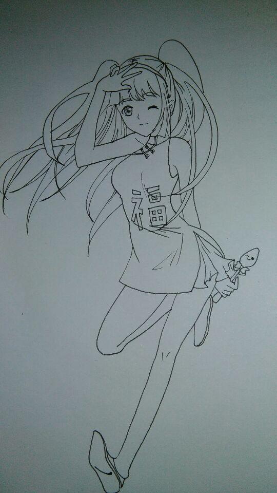 旗袍手绘设计图素描