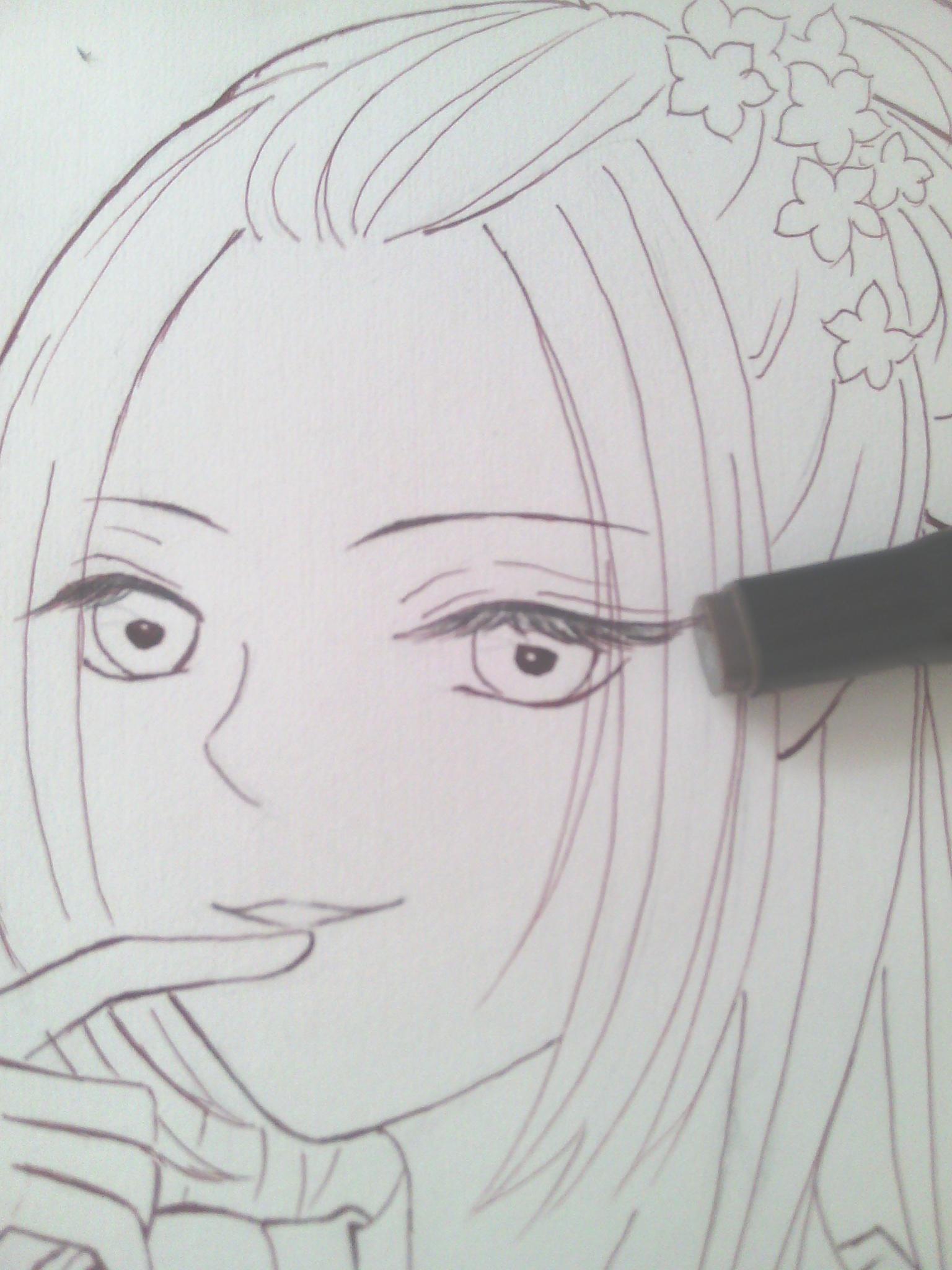 【柒七】直播————手绘古风美女——