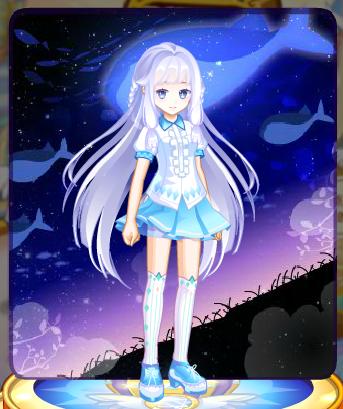 可爱女孩蓝色头像