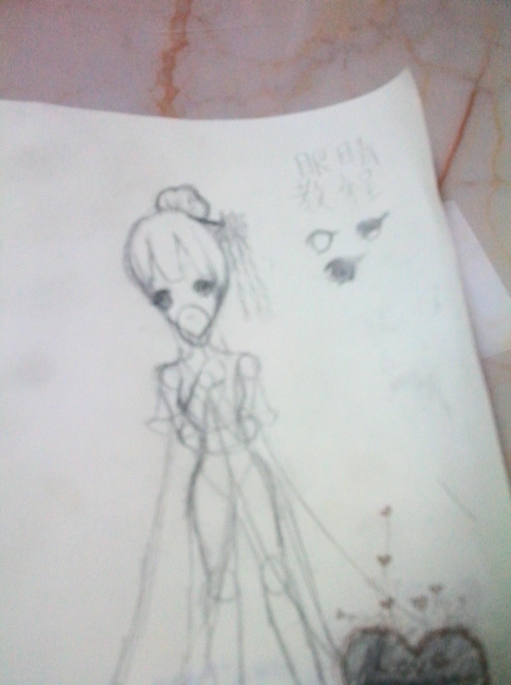 铅笔手绘古风眼睛女生