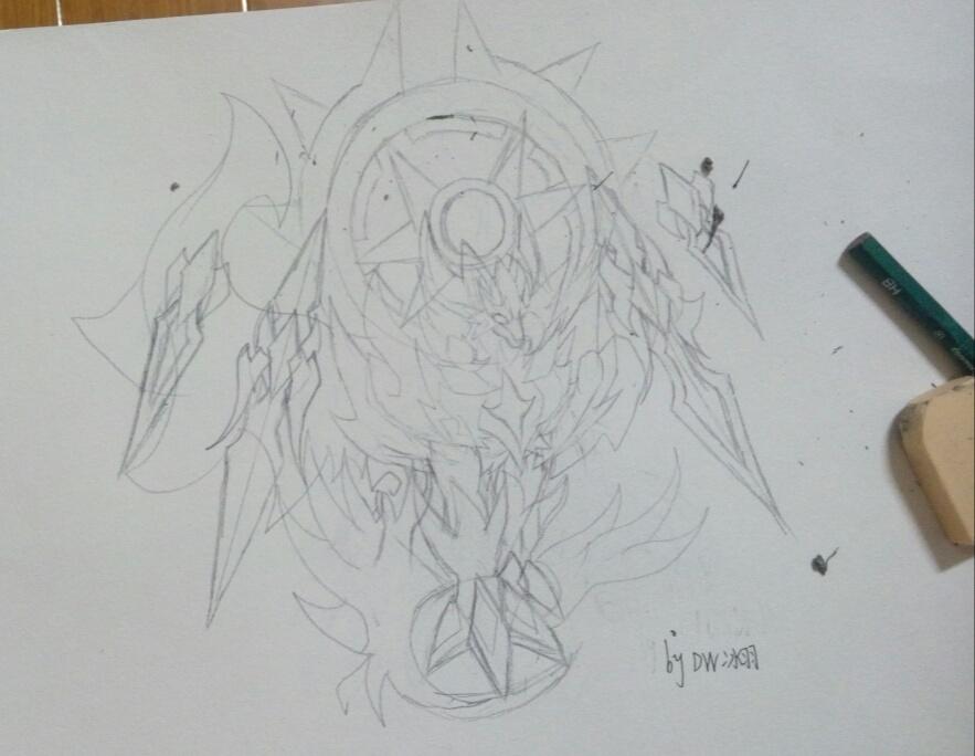 狼王简笔画画法步骤