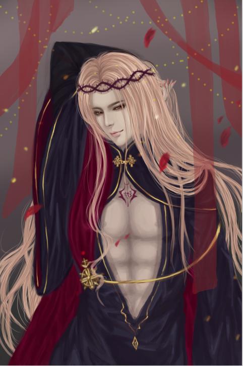 【板绘】帅气的(?)地狱之王过程