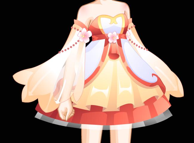 适合风格:可爱,古风 百搭指数:★★★☆☆ 点评:暖色系的可爱小裙子