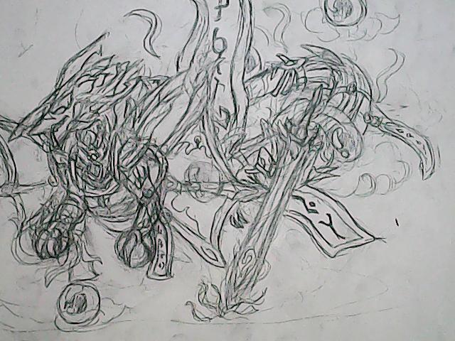 龙斗士手绘卡辛东方进化