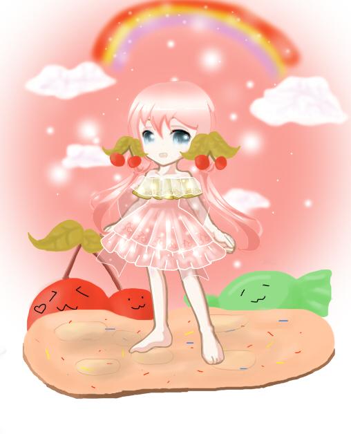 小泽奥比岛板绘作品--蜜恋樱桃套装