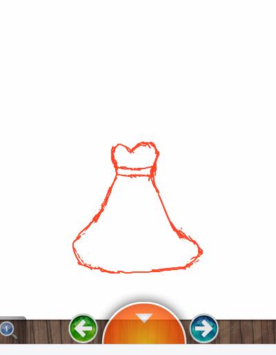 动漫手绘裙子花边素材