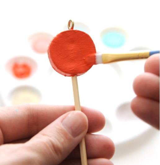 金闪闪的轻粘土棒棒糖制作哟~(甜蜜的礼物包装饰品)