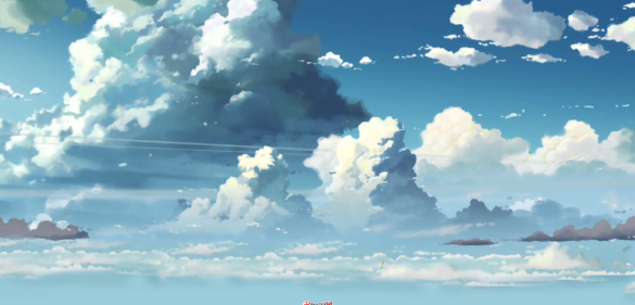 ps建筑素材俯视动漫天空
