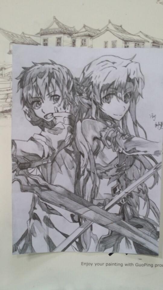 【dw丨纤莫】手绘 桐人 亚丝娜