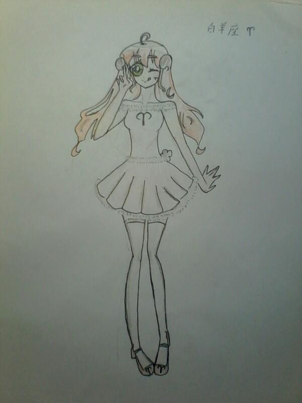 12星座女手绘_百田画咖圈