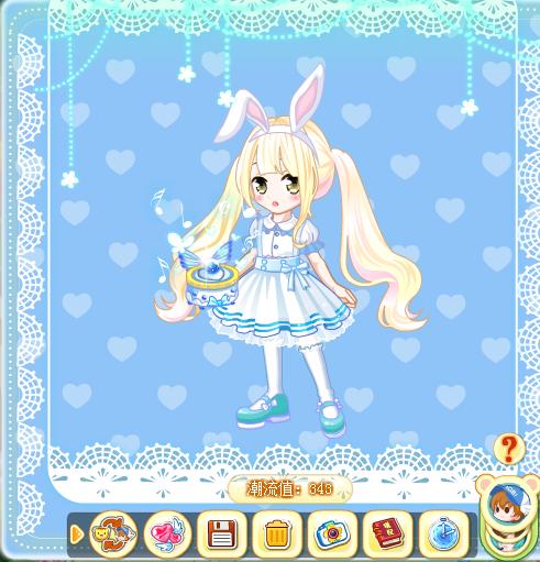 爱丽丝的边框和这款背景加一起毫无违和感!蕾丝简直一模一样!
