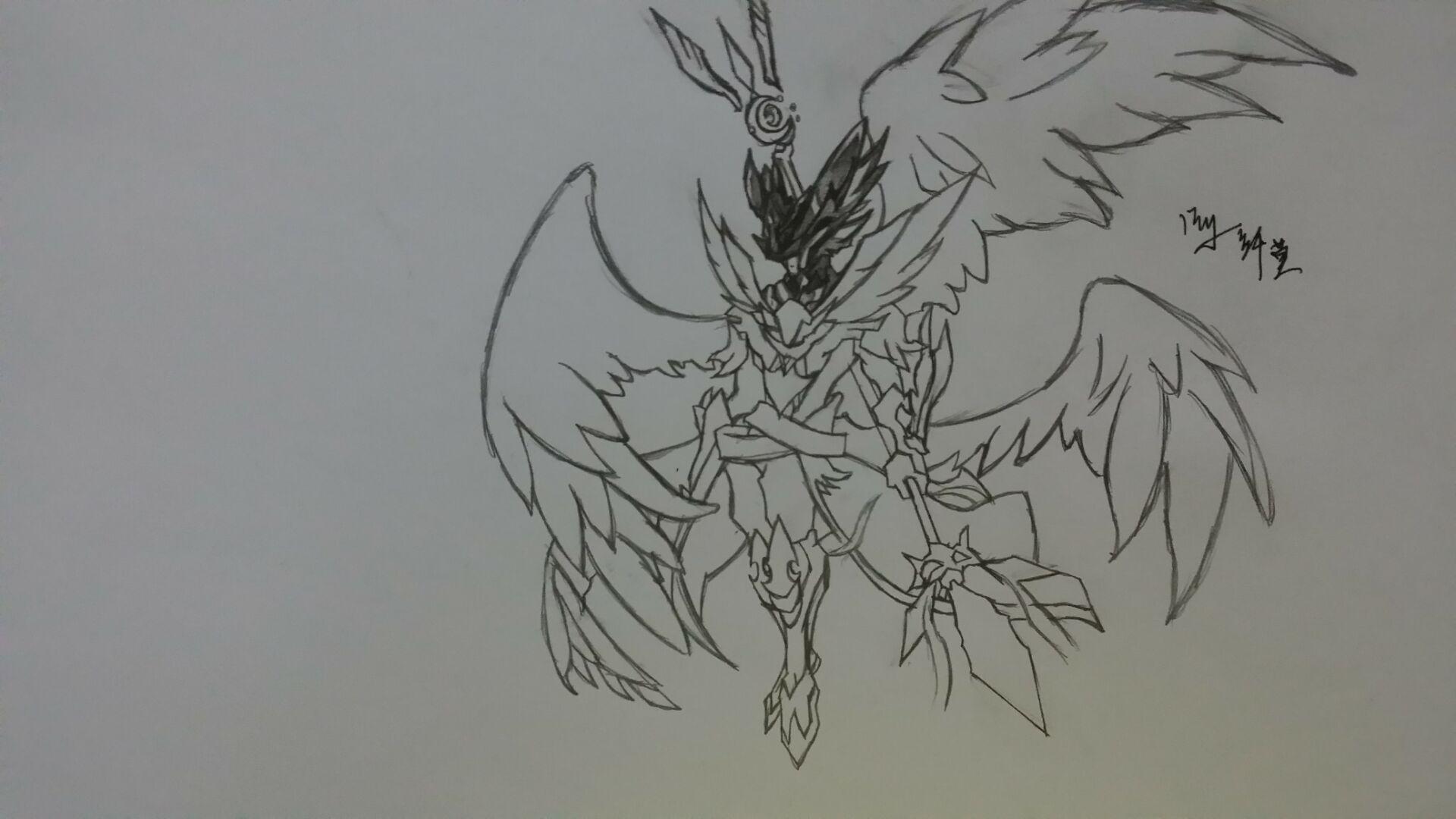 【dw丨纤莫】手绘光暗大天使